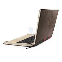 """Элитный кожаный чехол в виде книги Twelve South Leather Case BookBook для MacBook 12"""" - коричневый (12-1507)"""