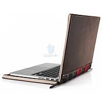 """Элитный кожаный чехол в виде книги Twelve South Leather Case BookBook для MacBook Pro 15"""" с Retina дисплеем - коричневый (TWS-12-1231)"""
