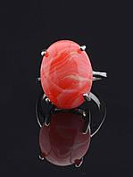 Кольцо с сардониксом. 029429 Кольцо 19 размера с натуральным камнем Сардоникс овальной формы, минималистичное