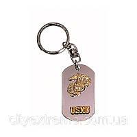 Жетон-брелок для ключей Dog Tag Key Chain - Silver U.S.M.C.