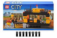 """Конструктор """"brick"""" """"city""""  """"строительная площадка"""" 82004, 98-деталей, в коробке:28,5х19х4,5 см"""