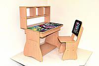 """Растущий комплект школьной мебели """"Монстры Хай (monster high)"""": парта  и стульчик подростковые"""