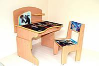 """Парта - растишка и стул с фотопринтом """"Отель трансильвания-2 / монстры на каникулах-2"""""""