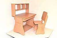 """Комплект детской деревянной мебели """"растущий"""" (подростковая парта + стул)"""