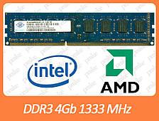 DDR3 4GB 1333 MHz (PC3-10600) різні виробники