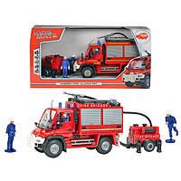 Пожарная машина с бочкой и  фигурками людей 3826000