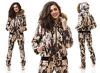Теплый зимний костюм в стиле милитари - 3 камуфляжные расцветки