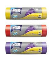 Novax Мусорные пакеты с затяжкой Plus 35л/15шт