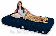 Надувная кровать велюр 66768 синий (без насоса)в кор. 137*191*30см IKD , фото 1