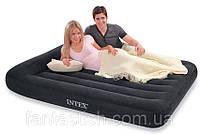 Надувная Кровать велюр INTEX 66769 синий (без насоса)в кор. 152х203х30см IKD
