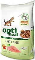 Optimeal Сухой корм для котят Курица 11кг