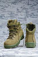 Ботинки нубук олива мех Собственное производство
