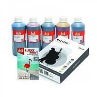Фото-чернила Epson 5*1л + фотобумага + офисная бумага