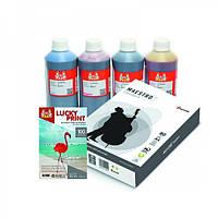Фото-чернила Epson 4*1л + фотобумага + офисная бумага