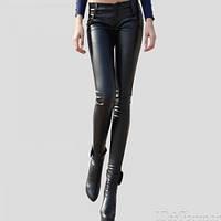 Кожаные скинни слимы леггинсы штаны утепленные LAURA SCOTT Германия 36, 38