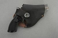 Зажигалка пистолет (револьвер) в кожаном чехле Собственное производство