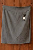 Юбка серого цвета фабричный пошив