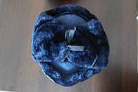 Зимняя шапка форменная искусскуственный синий мех верх сукно синее