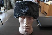 Зимняя шапка форменная искусственный серый мех верх сукно серое