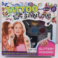 Набор для татуировки RMT-TI-YX8000 (наносятся на тело с использованием трафаретов, специального гипоаллергенного клея для тела и мелких блесток разных