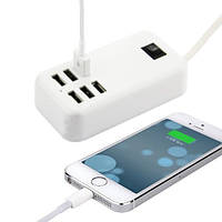 USB hub Адаптер питания - зарядное устройство хаб на 6 портов