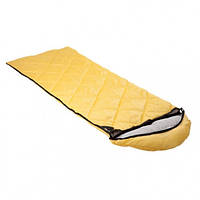 Мешок спальный КЕМПИНГ Peak с капюшоном (220х80см), желтый