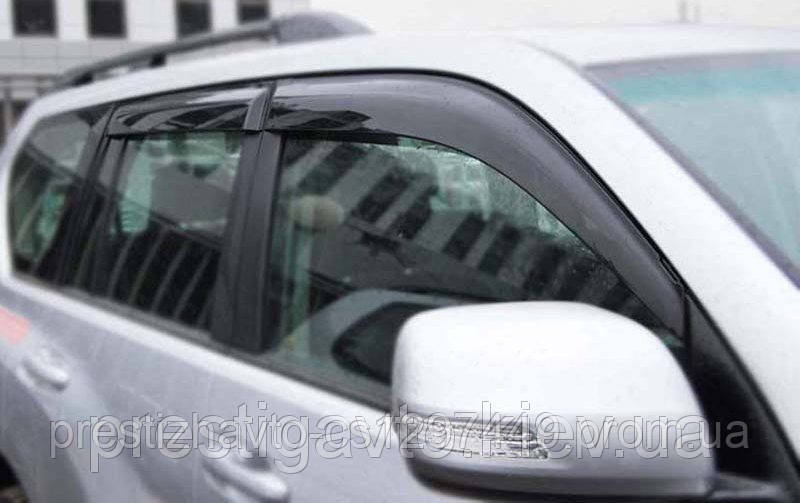 Дефлекторы окон (ветровики) на Toyota Land Cruiser Prado 150