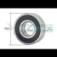 Подшипник - наружный диаметр 35 мм, внутренний диаметр 15 мм, изготовлен из проверенных материалов, обеспечивающий макс