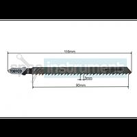 Пилочка для электролобзика WHIRL POWER T301CD 116 мм