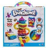 Детский конструктор липучка Bunchems 300 Pieces! Вязкий пушистый шарик Банчемс на 300 деталей