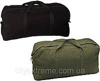 Сумка дорожная чёрная Rothco Canvas Tanker Style Tool Bag, фото 1