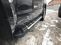 Volkswagen Amarok Боковые площадки Sunrise (2 шт., алюминий)