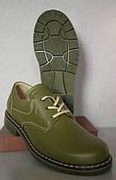 Туфли для охотников кожаные зеленые Собственное производство (1)