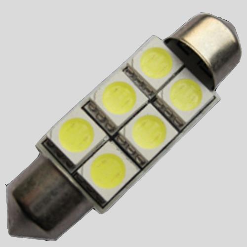 Светодиодная автомобильная лампа SV8.5(C5W)-42MM-5050-6
