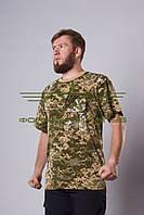 Футболка новый пиксель ВСУ ( ЗСУ ) с погонами и нагрудным карманом Собственное производство (1)