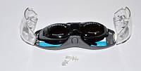 Очки для плавания, материал оправы - силикон, зеркальные линзы с защитой от UV-лучей