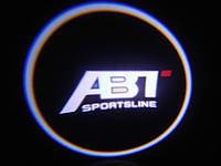Подсветка дверей авто / лазерная проeкция логотипа ABT Sportsline | АБТ Спорт