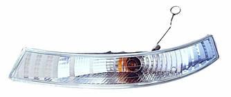 Ліхтар покажчика повороту на Renault Trafic 01->06 (L, білий, під фару) — 551-1608L-UE-C