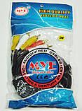 Аудио-видео кабель, MYE Audio/Video cable, тюльпан — тюльпан, 3RCA-3RCA, 5м, фото 2