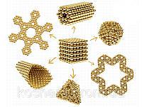 Неокуб золото 5мм , NeoCube, конструктор магнитные шарики 216шт