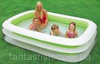 Детский надувной бассейн INTEX 56483 семейный, прямоугольный 2 кольца 262-175-56 см, 749 л, 5,75 кг IKD