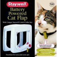 Дверцы для котов, с программным ключом, Staywell ПРОГРАМ, белый