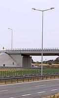 Стальная оцинкованная опора тип C высотой 6-8м; толщина стенки 3-4мм Elmonter