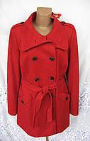 Новое яркое демисезонное пальто S'OLIVER полиэстер вискоза шерсть L 50-52 C55N