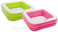 Детский надувной бассейн INTEX 57100NP мягкое дно, 2 цвета,в кор.,85*85*23 см IKD