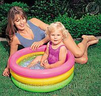 """Детский надувной бассейн INTEX 57402 """"Радуга"""" 3секц,винил,реф. дно, в кор. 61*22см IKD , фото 1"""