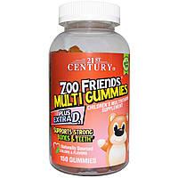 21st Century, Жевательные мультивитамины Друзья из Зоопарка, Мультивитаминная пищевая добавка для детей, 150 ж