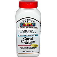 21st Century, Коралловый кальций, 1000 мг, 120 капсул