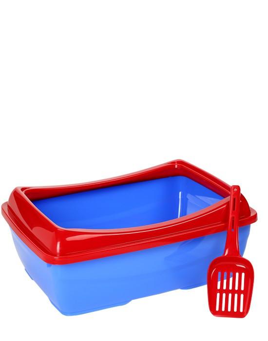 Туалет з бортиком для котів, 46Х38Х16 см