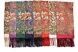Платок шерстяной с турецким орнаментом изумрудный, фото 4